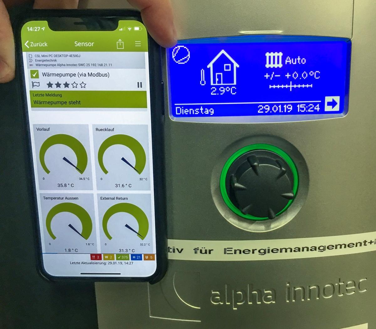 Alpha Innotec Wärmepumpe via ModBus mit PRTGüberwachen