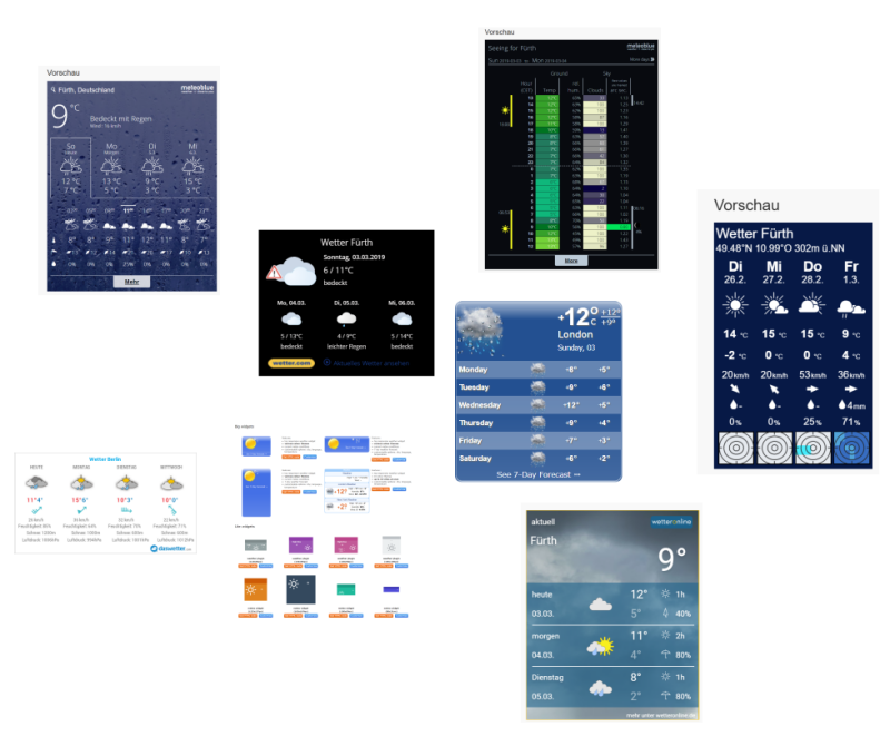 This is my favorite free weather outlook widget for my dashboards