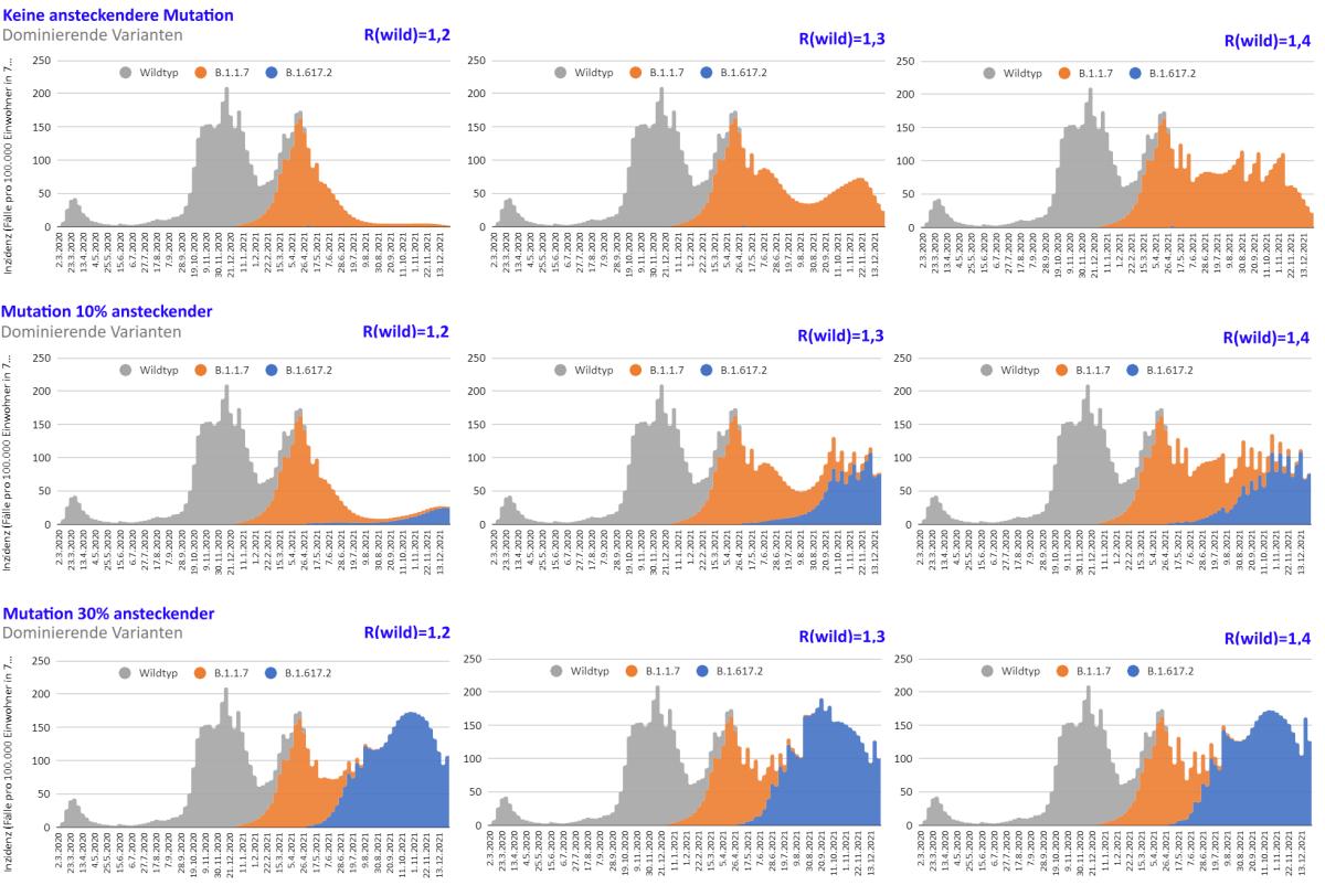 Modellrechnung: Könnte uns B.1.617.2 den Sommer oder Herbstversauen?